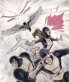 X-Men : Ilustrações com a primeira formação do grupo de Mutantes. | Jorge Silva .Geek