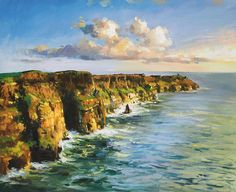 Cliffs Of Mohar 2 Painting by Conor McGuire