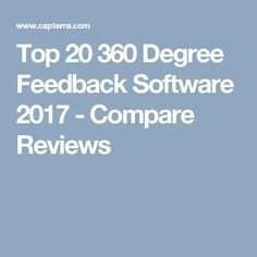 Find and compare 360 Degree Feedback software. Free, interactive tool to quickly narrow your choices and contact multiple vendors.