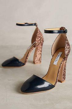 Vanessa Tao Glitter Heels - anthropologie.com