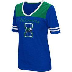 Colosseum Athletics Women's Texas A&M University at Corpus Christi Twist 2.1 V-Neck T-shirt (Blue, Size