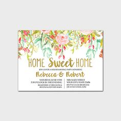 Housewarming party invitation template edit with adobe reader floral housewarming party invitation printable spring floral housewarming invite housewarming shower new home party invite 5x7 digital file stopboris Choice Image