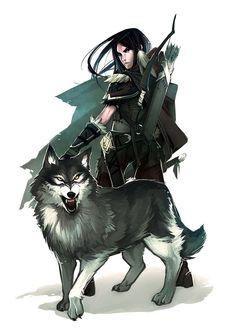 Female Ranger / Hunter - Pathfinder PFRPG DND D&D d20 fantasy