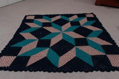 Carpenters Wheel Blankie - CROCHET