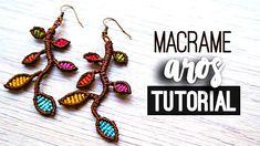 AROS DE MACRAME »  tutorial | como hacer | diy ● Earrings #109