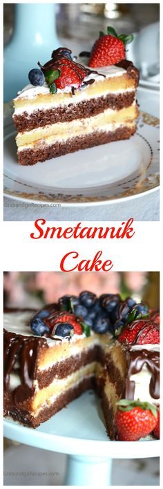 Smetannik is a Classical Russian Cake with Sour Cream Frosting. My sister in-law Galina shared this fabulous recipe with me and now I am sharing it with you. Simple and yet so good.