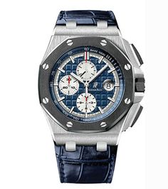 Royal Oak Offshore Chronograph watch by Audemars Piguet; Available at London Jewelers, 2 Main Street, East Hampton, NY. (631) 329-3939