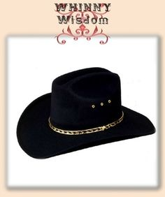Black Faux Felt Western / Cowboy hat. Adult Size 7 1/4 U.S. / 58 Mex. Only $17.95 ea + Shipping