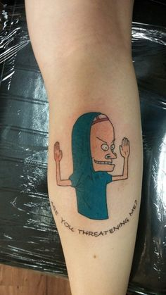 Beavis tattoo via liesmakefutures Tumblr