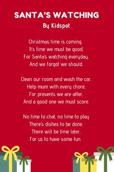 Christmas poems are perfect to share with your family and friends. And to help you out, here are over 20 examples of Christmas poems for kids. Xmas Poems, Christmas Poems, Christmas Time, Advent For Kids, Advent Calendars For Kids, Pre Primer Sight Words, Funny Poems, Calendar Wallpaper, Sight Word Activities