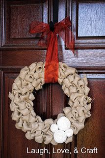 I'm looking at doing something with my husbands old cammies, so maybe something like this.  I think his mom might like one. http://www.laughloveandcraft.com/2011/10/burlap-wreath-tutorial.html