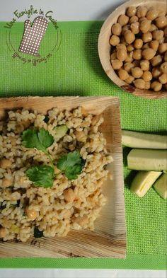 Risotto ceci e zucchine. http://blog.giallozafferano.it/unafamigliaincucina/riso-integrale-con-ceci-e-zucchine/