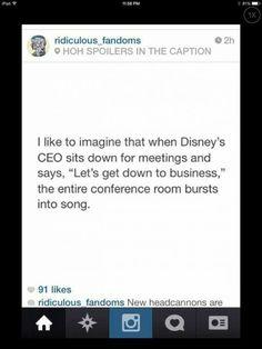 LOL That'd be the best meeting ever ~~ Disney Disney Dream, Disney Love, Disney Magic, Disney Stuff, Disney And Dreamworks, Disney Pixar, Lol, Disney Quotes, Disney Memes