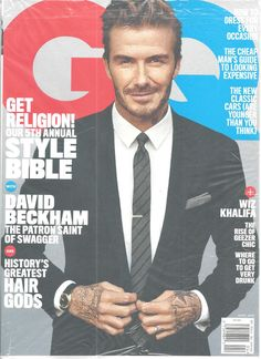 David Beckham GQ Magazine April 2016 Wiz Khalifa Style Bible Hair Gods  #CondeNast