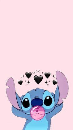 Ombre Wallpaper Iphone, Disney Phone Wallpaper, Cartoon Wallpaper Iphone, Cute Cartoon Wallpapers, Pretty Wallpapers, Cute Disney Characters, Backgrounds Girly, Cute Stitch, Cute Disney Drawings