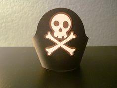 Skull & Crossbones Cupcake Wrapper