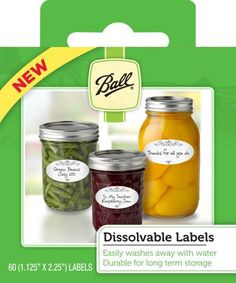 Dissolvable labels so you don't have to scrape or use label remover!