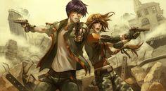 Gundam Wing - Heero Yuy x Duo Maxwell - Story Inspiration, Character Inspiration, Character Art, Character Design, Character Sketches, Duo Maxwell, Heero Yuy, Drawn Art, Gundam Wing