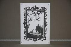Card created using Masterpiece Duo Stamp Set - Ornate Frame & Landscape Artist, made by Debbie Moran www.craftworkcards.com