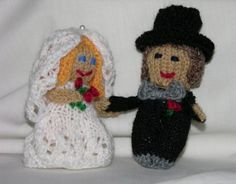 Bride and Groom  PATTERN PDF Knit by knittingmette on Etsy, $5.00