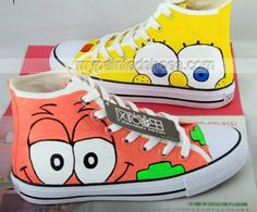 Cheap shoes pvc, Buy Quality shoes formal directly from China shoe men Suppliers: Canvas Shoes High Top SpongeBob SquarePants Yellow Orange Hand Painted Shoes We can custom all Cosplay Costume Painted Canvas Shoes, Custom Painted Shoes, Hand Painted Shoes, Custom Vans Shoes, Square Pants, Hype Shoes, Spongebob Squarepants, Casual Shoes, Women's Casual