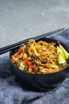 A vegan adaptation of Singapore noodles, a popular cantonese dish. This recipe is quick and versatile. It's great made with whatever produce you have!