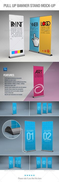 Buy Pull-Up Banner Stand Mock-Up by abelo on GraphicRiver. Pull-Up / Roll-Up Banner Stand Mock-Up FEATURES: 5 Full layered photoshop documents Editable via smart object Path i. Pull Up Banner Design, Standing Banner Design, Pop Up Banner, Free Flyer Templates, Budget Template, Indesign Templates, Retractable Banner, Display Banners, Banner Stands