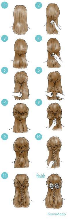 New hair messy short cute hairstyles Ideas Cute Simple Hairstyles, Pretty Hairstyles, Cute Hairstyles, Braided Hairstyles, Romantic Hairstyles, Hairstyles 2016, Latest Hairstyles, Super Hair, Grunge Hair