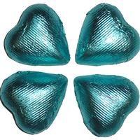 Tiffany Blue Foil Chocolate Hearts - 5 lb bag $54.95