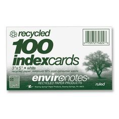 Roaring Spring Environotes Ruled Index Card for only $0.87/pk. See this on http://www.officediscountclub.com/Products/Roaring-Spring-Environotes-Ruled-Index-Card__ROA74824.aspx