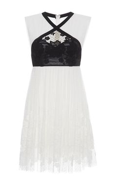 Sleeveless Dress With Floral Applique by GIAMBA for Preorder on Moda Operandi