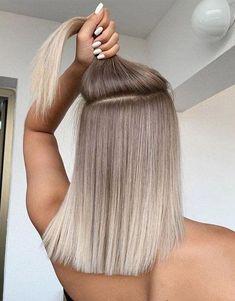 Blonde Hair Looks, Brown Blonde Hair, Brunette Hair, Blonde Ombre Hair Medium, Grey Ash Brown Hair, Blonde Hair With Dark Roots, Toning Blonde Hair, Blonde Ombre Short Hair, Summer Blonde Hair