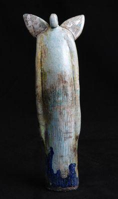 ☥ Figurative Ceramic Sculpture ☥ Elizabeth Rollins-Scott   Guardian Angel