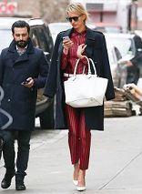0c63498daa18 Karolina Kurkova with her Michael Kors Miranda tote. New York, March 2013