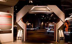 Battlestar Galactica The Exhibition Entrance Design, Gate Design, Facade Design, Design Design, Stand Design, Booth Design, Arch Gate, Environmental Graphic Design, Environmental Graphics