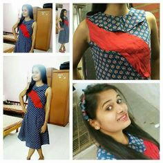Traditional print # ajarkh#cute and decent # one piece