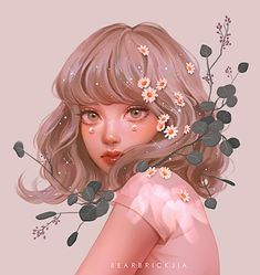 Digital Art Girl, Digital Portrait, Portrait Art, Familia Anime, Fantasy Portraits, Photoshop, Anime Art Girl, Aesthetic Girl, Art Blog