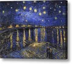 Vincent Van Gogh Starry Night Over The Rhone Print