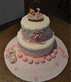 Baby christening cake Baby Christening Cakes, Desserts, Food, Tailgate Desserts, Meal, Dessert, Eten, Meals, Deserts