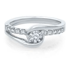 Sirena Forever® 1/2 ct. tw. Diamond Engagement Ring in 14K Gold available at #HelzbergDiamonds