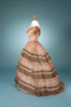 Civil War era silk evening gown