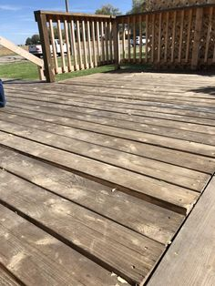 Deck How to Repair, Prep and Restain a Wood Deck - Chris Loves Julia Luxury Condos Haute Couture's N Porch Wood, Wood Pergola, Wood Patio, Pergola Kits, Sanding Wood, Restain Deck, Restain Wood, Wood Deck Stain