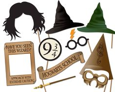 NB: THIS IS AN INSTANT DIGITAL DOWNLOAD AND NOT A PHYSICAL ITEM AND SO NO SHIPPING INVOLVED.  Harry Potter Photo Booth Props, printable digital download. Instant printable fun.   Printable Props:  • Harry Potter • Ron Weasley • Hermione Granger • Hagrid • Dumbledore • Dobby The House Elf • Harry Potter Head Pieces • Scarf • Wizard Broom • Book of Spells • Mad Eye Moody • Wizard Wanted Sign • Severus Snape • Glasses • Wands • Selection Hat • Wizard Hat • Death Eater Mask   THIS ITEM INCLUDES…
