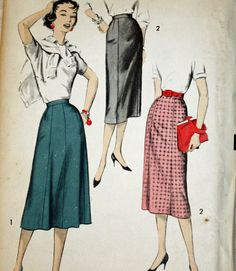 Vintage 1950s Sewing Pattern Advance 8623 Misses Eight and