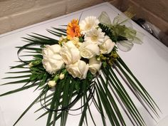 Tribute/funeral sheaf from Cottons and Blossoms -  cottonsandblossoms.weebly.com