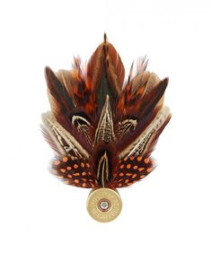 Feather Pin In Rust reallywildclothing.co.uk