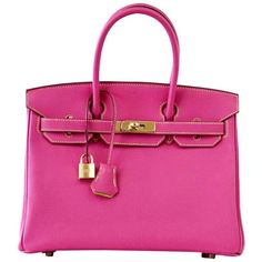 Hermes Birkin 30 Bag Rose Tyrien Chevre Horseshoe Limited Edition Gold Hardware 1