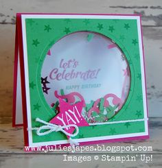 Julie Kettlewell - Stampin Up UK Independent Demonstrator - Order products 24/7: Shaker Window Card