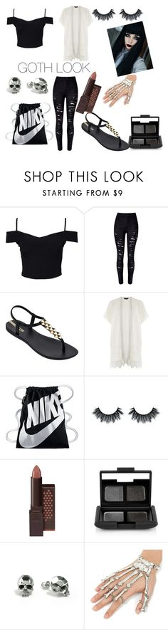 """Blacks the new everything"" by stephen-james-lover ❤ liked on Polyvore featuring New Look, WithChic, IPANEMA, Dorothy Perkins, NIKE, Burt's Bees, NARS Cosmetics, Sirius and Kasun"