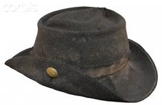 United States Civil War, Confederate slouch hat with North Carolina button found at Gettysburg.
